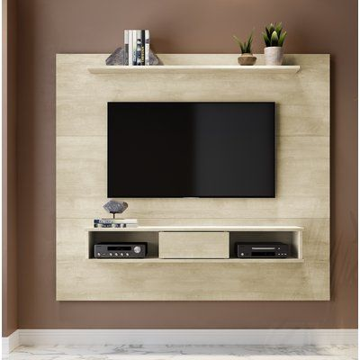 Martin Home Furnishings Shallow 60 Quot Wall Mounted Tv Stand