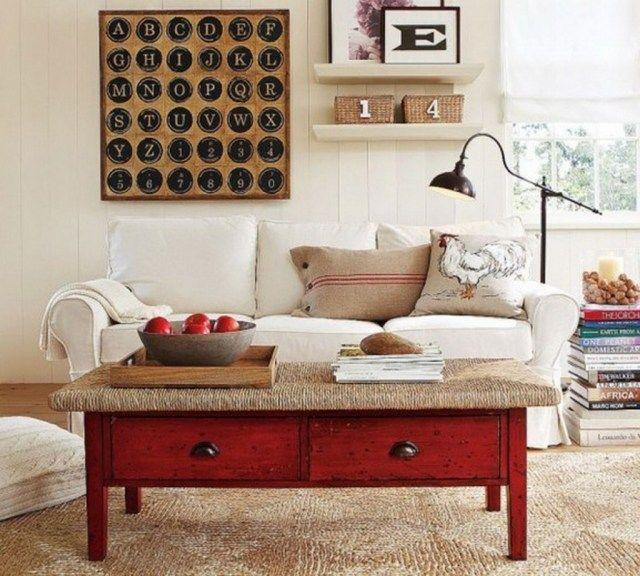 Déco salon en couleur rouge - quelques idées magnifiques et tendance - deco salon rouge et blanc