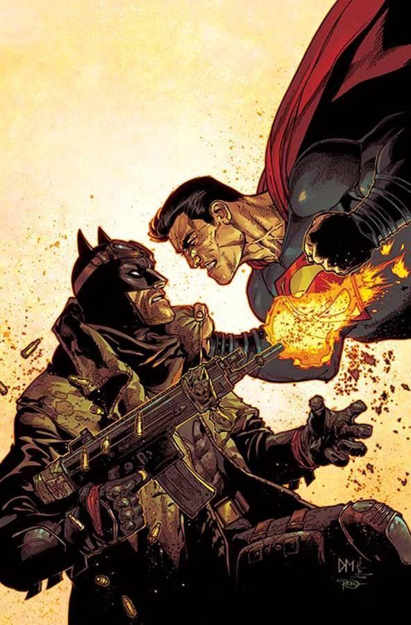 Green Lantern #50 Batman vs. Superman variant cover by Doug Mahnke *