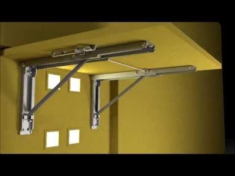 Wall mounted folding brackets by eureka mfg youtube aa klappwerkbank m bel tisch und - Klappschreibtisch wand ...