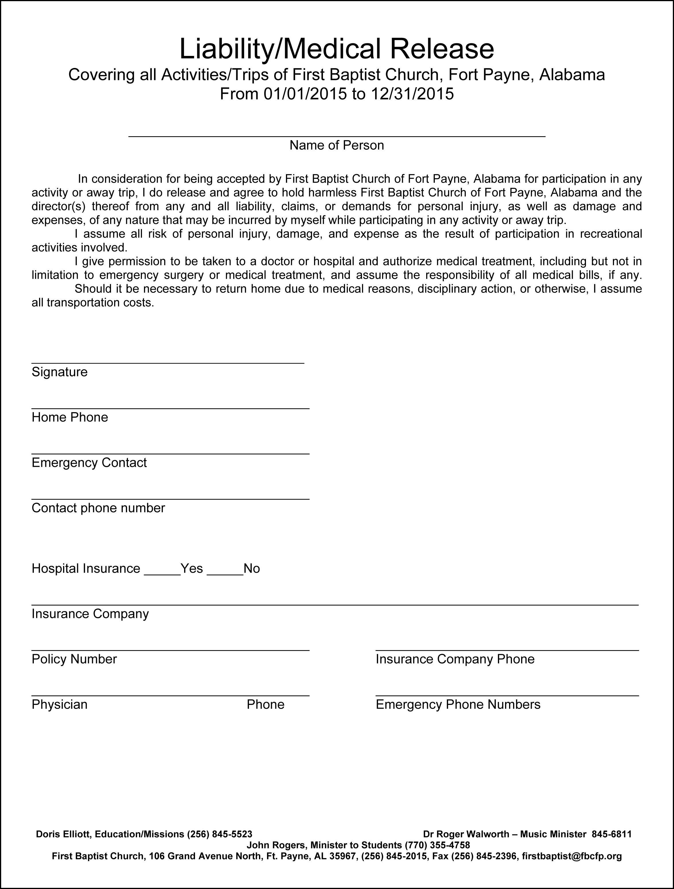 Medical Release Form For Adults Beautiful Medical Release