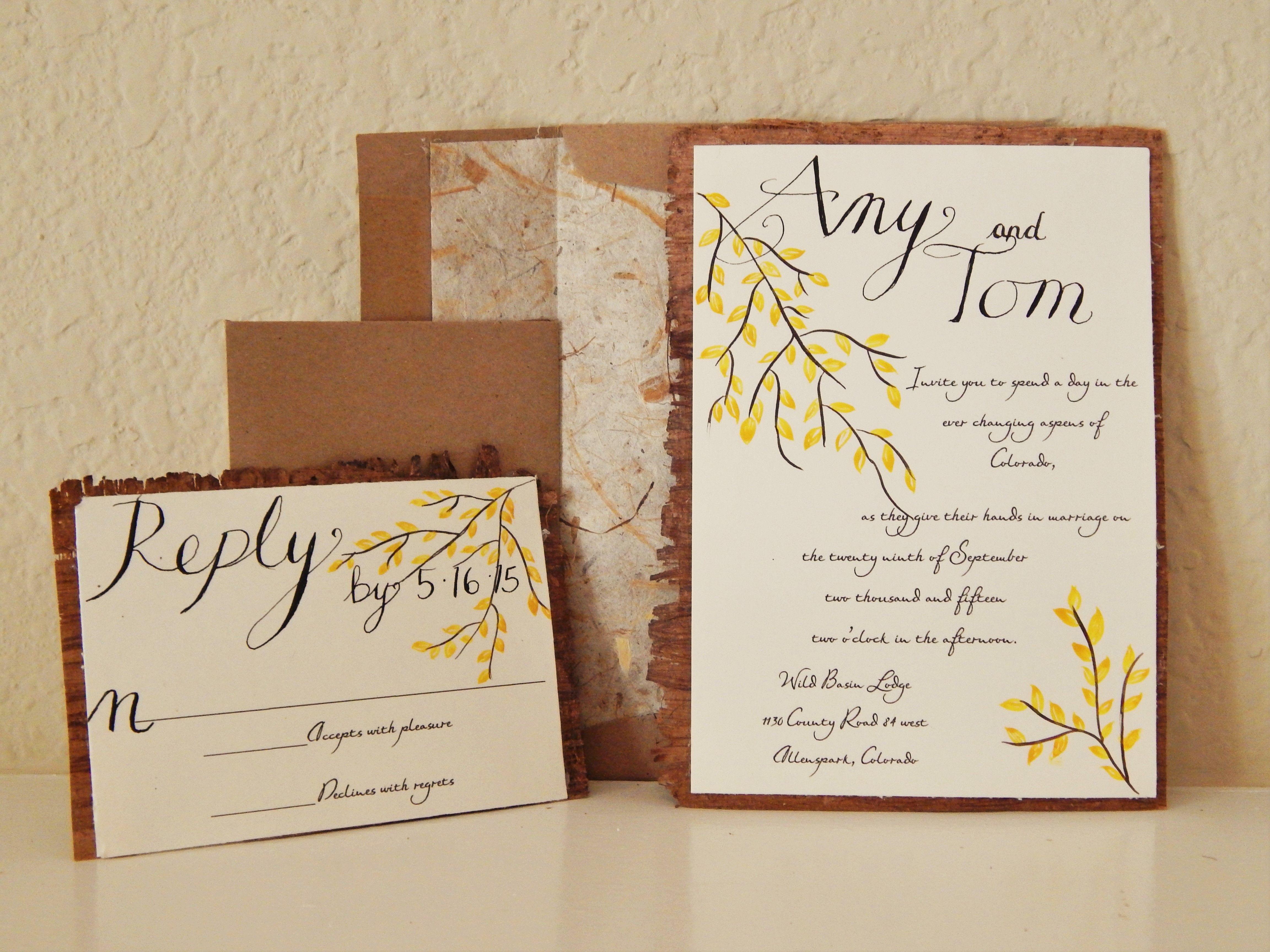 eco friendly wedding invitation | wood wedding inivtation | earthy ...