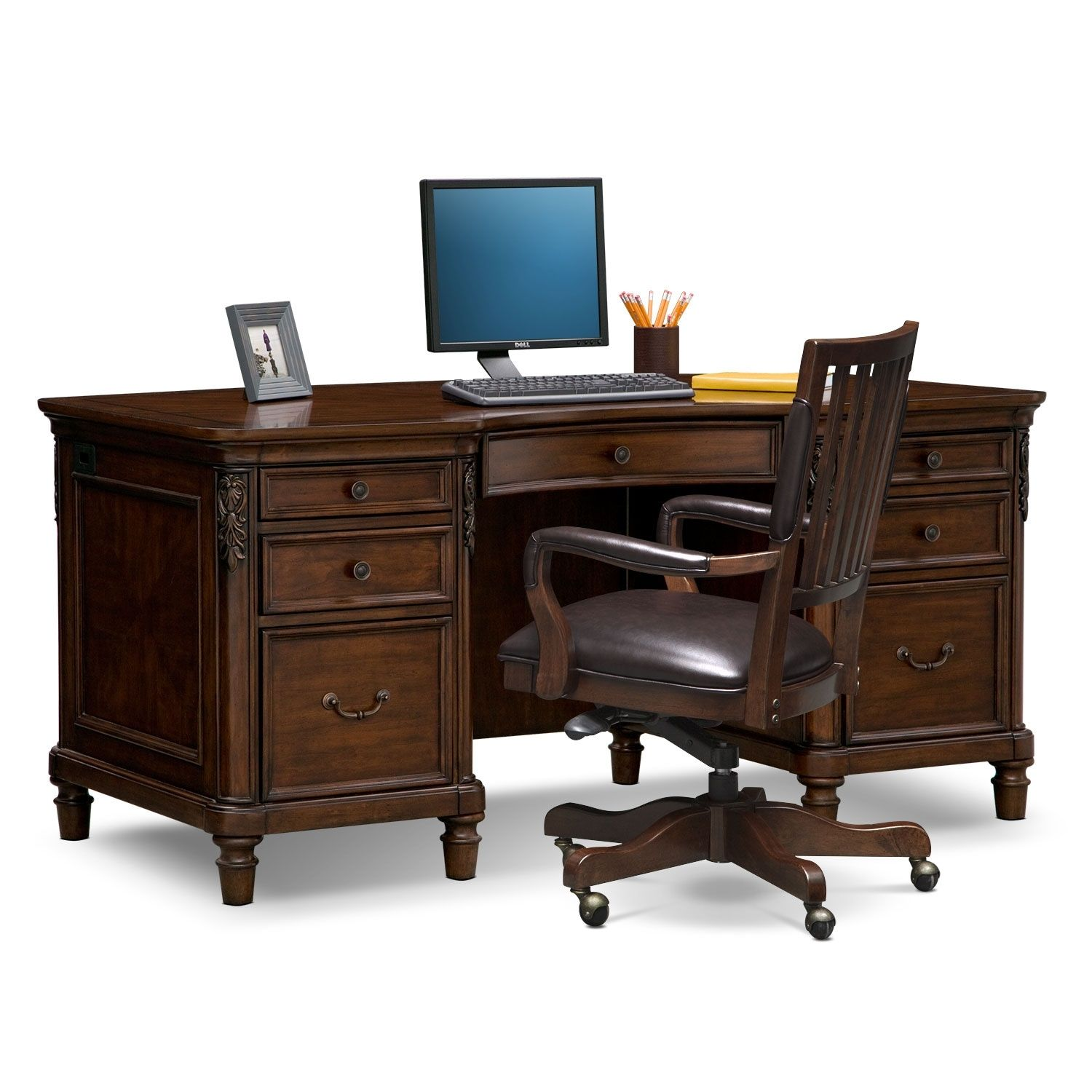 Ashland Executive Desk And Chair Set In 2021 Desk And Chair Set Executive Desk Furniture Office desk and chair set