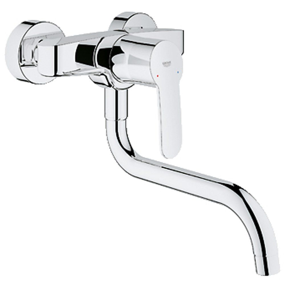 Kitchen Sink Mixer Taps Uk 273 projection grohe eurostyle cosmopolitan chrome wall mounted buy grohe eurostyle cosmopolitan chrome wall mounted kitchen sink mixer tap 33982002 from taps uk uks specialist kitchen sinks and taps supplier workwithnaturefo