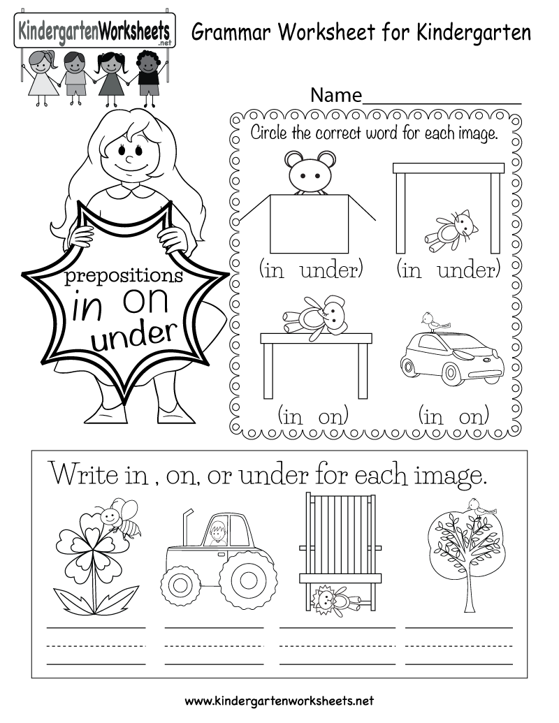 In This English Grammar Worksheet For Kindergarten Kids Can Learn