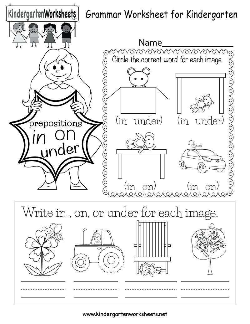 worksheet In On Under By Worksheets in this english grammar worksheet for kindergarten kids can learn free kids