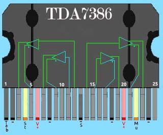 TDA7386 Power Amplifier   Diy amplifier, Audio amplifier ...