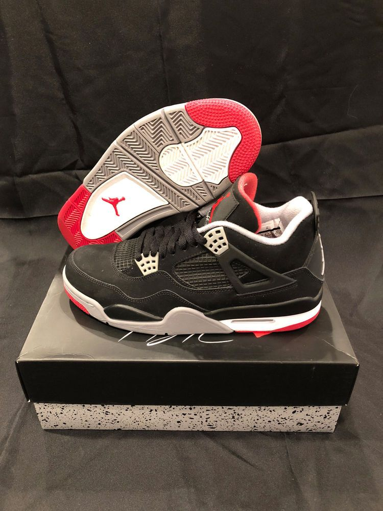 VNDS Air Jordan Retro 4 Bred Size 9.5