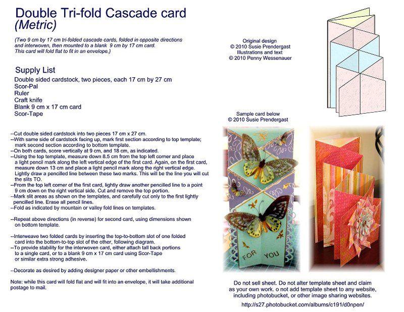 Cascading Card Cascading Card Tri Fold Cards Card Making Templates