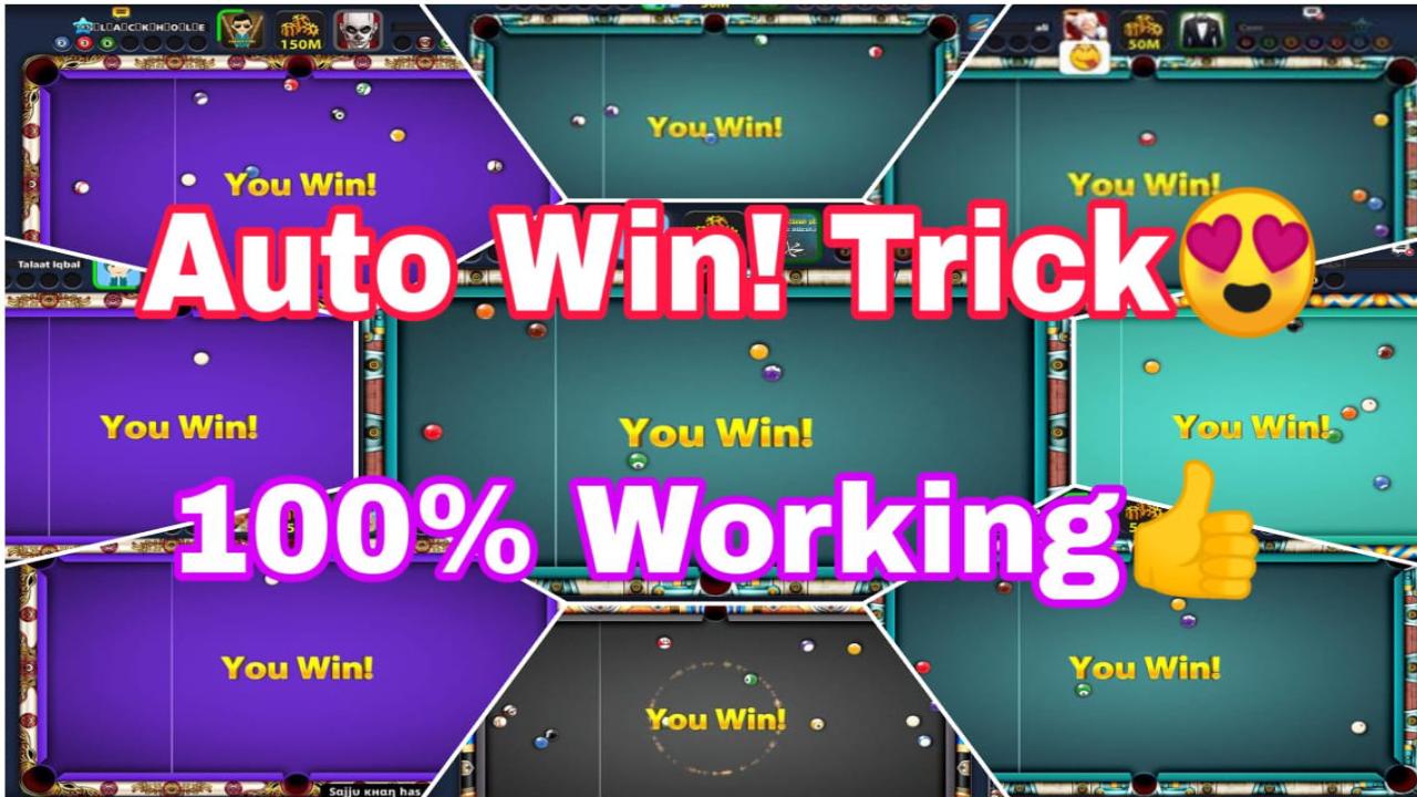 8 Ball Pool Auto Win Trick Latest Auto Win Trick 8 Ball Pool Coin Tricks Pool Games 8ball Pool