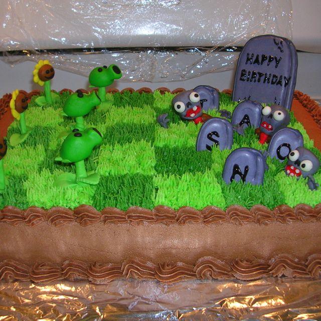 Plants vs Zombies cake Cakes Pinterest Plants vs zombies