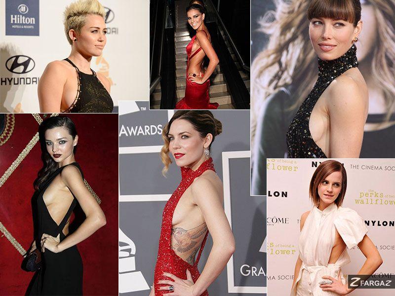 Mulheres! Existe um novo formato de decote que vem conquistando o estilo de celebridades mundo afora. É o sideboob. O decote na lateral do seio  é bastante feminino, valoriza o perfil da mulher e é sensual sem ser vulgar.  A Fargaz amou!!