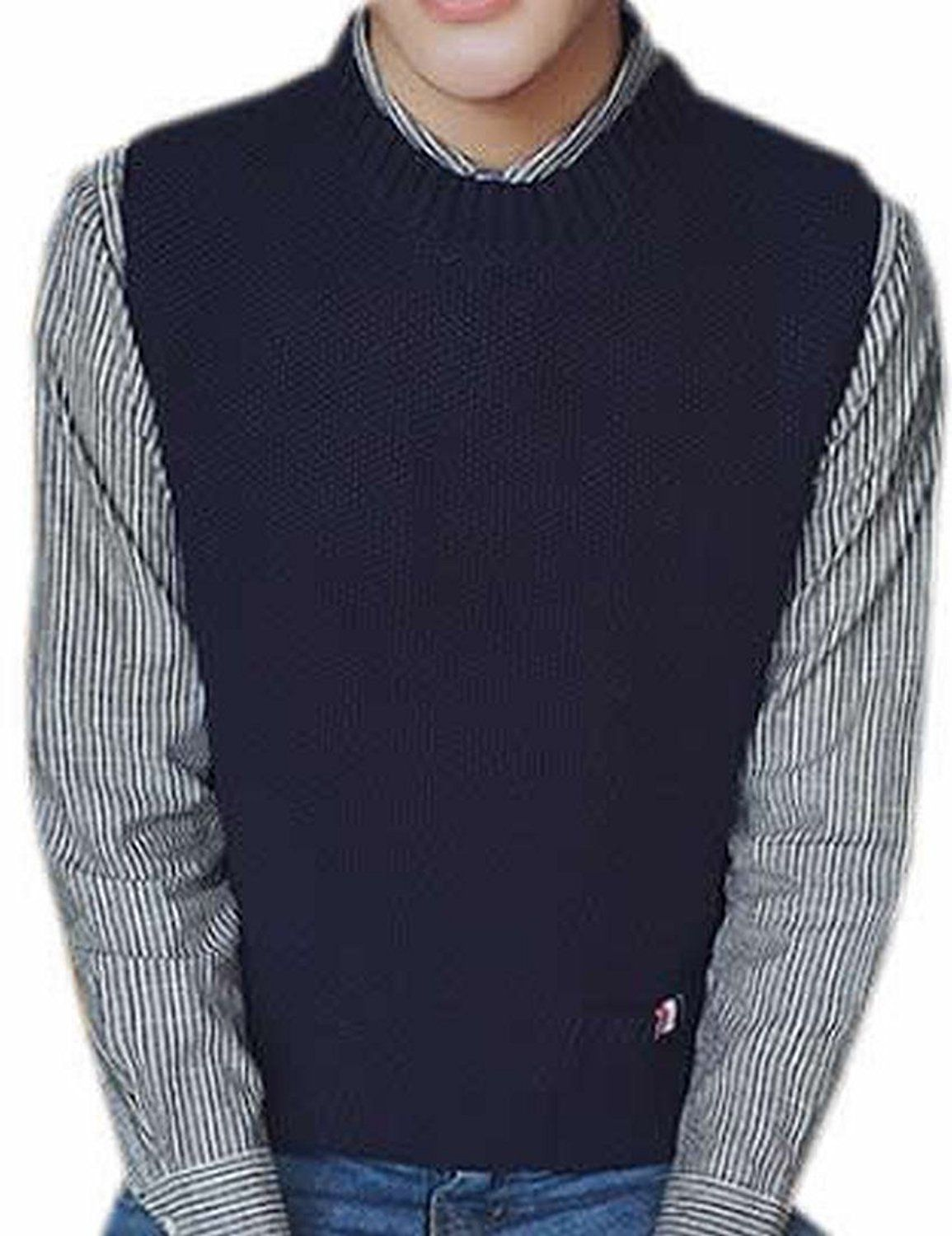 Generic Mens Casual Slim Crew-Neck Pocket Sweater Vests | Men's ...