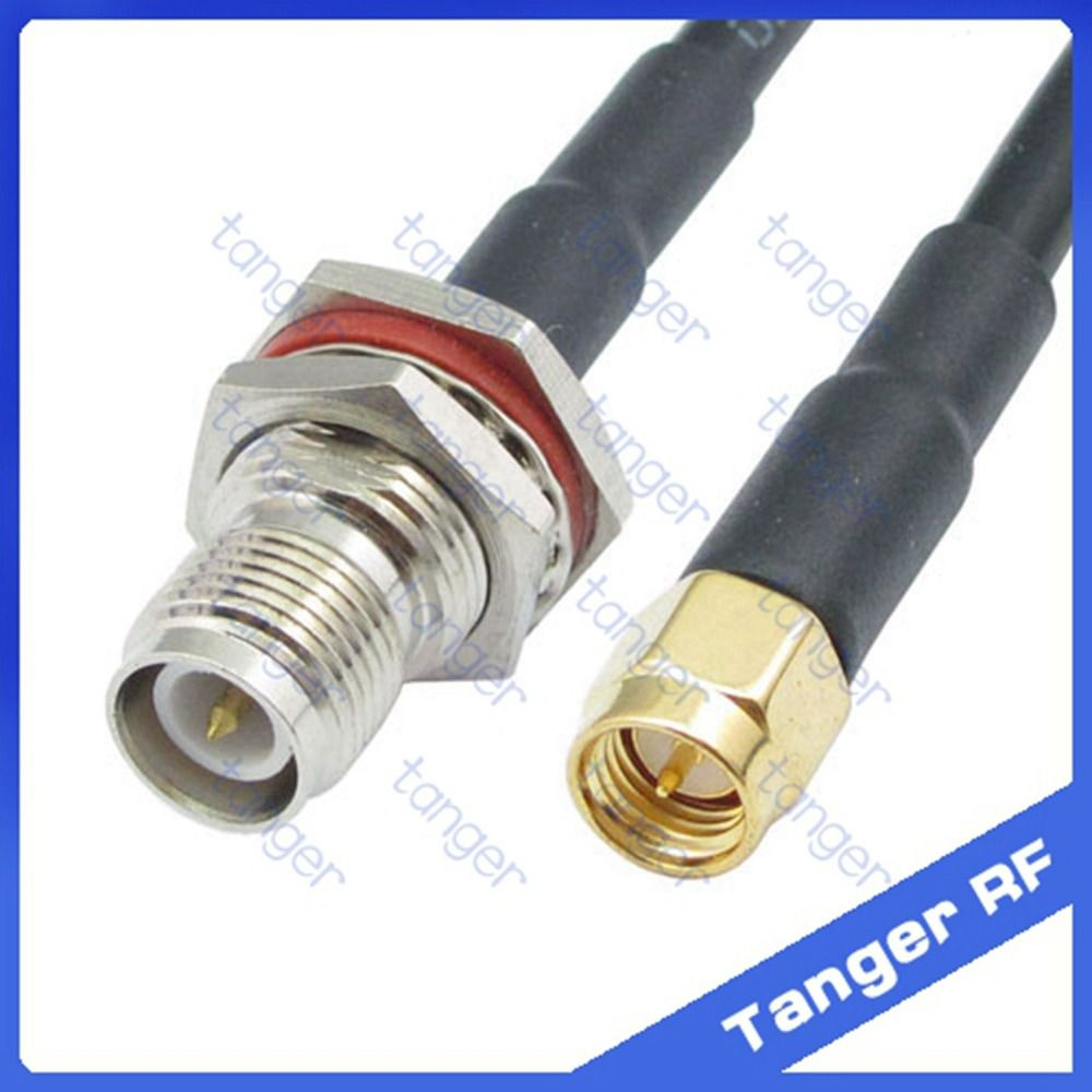 Tanger Rp Tnc Female Connector To Sma Male Plug Straight Rf Rg58 5mm Dc Power Solder End Connection For Cctv Cable Pigtail Jumper Coaxial