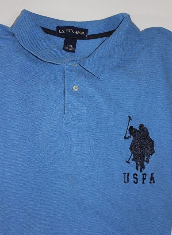 69498a32a Mens USPA US Polo ASSN Shirt Short Sleeve 4XL Blue Pony Men 4 Extra Large  Nice  USPoloASSN  PoloRugby