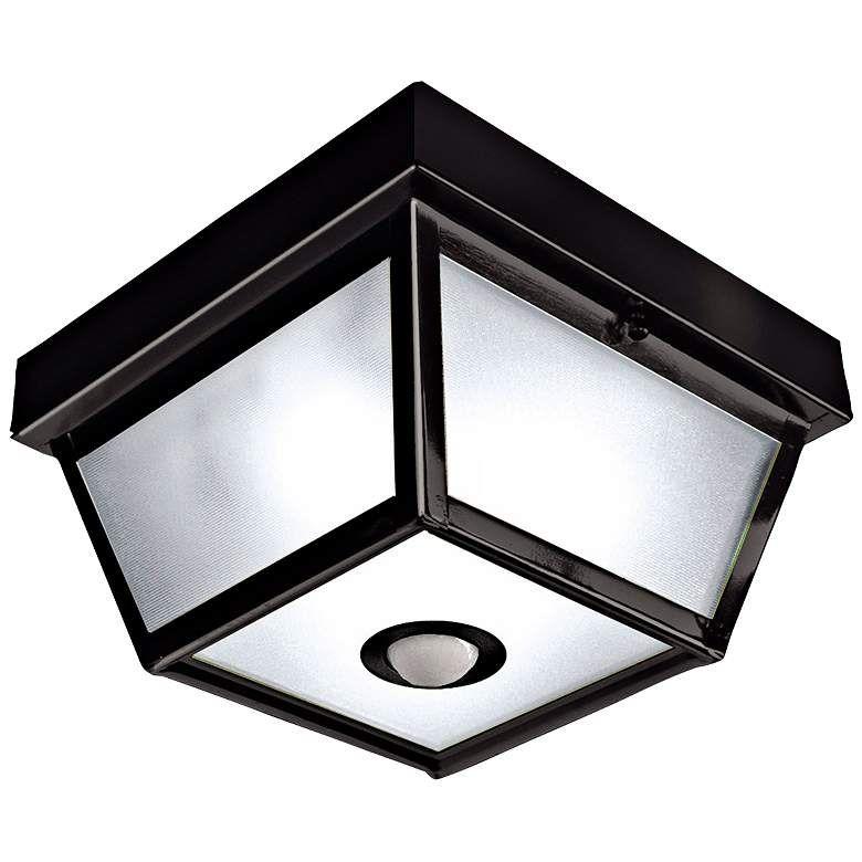 Benson Black 9 1 2 Wide Motion Sensor Outdoor Ceiling Light H7013 Lamps Plus Ceiling Lights Sensor Lights Outdoor Outdoor Ceiling Lights Motion sensor ceiling light fixture