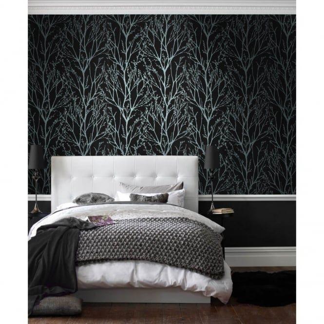 Black Glam Glitter Wallpaper Glitter Wallpaper Bedroom Wallpaper Living Room Goth Home Decor