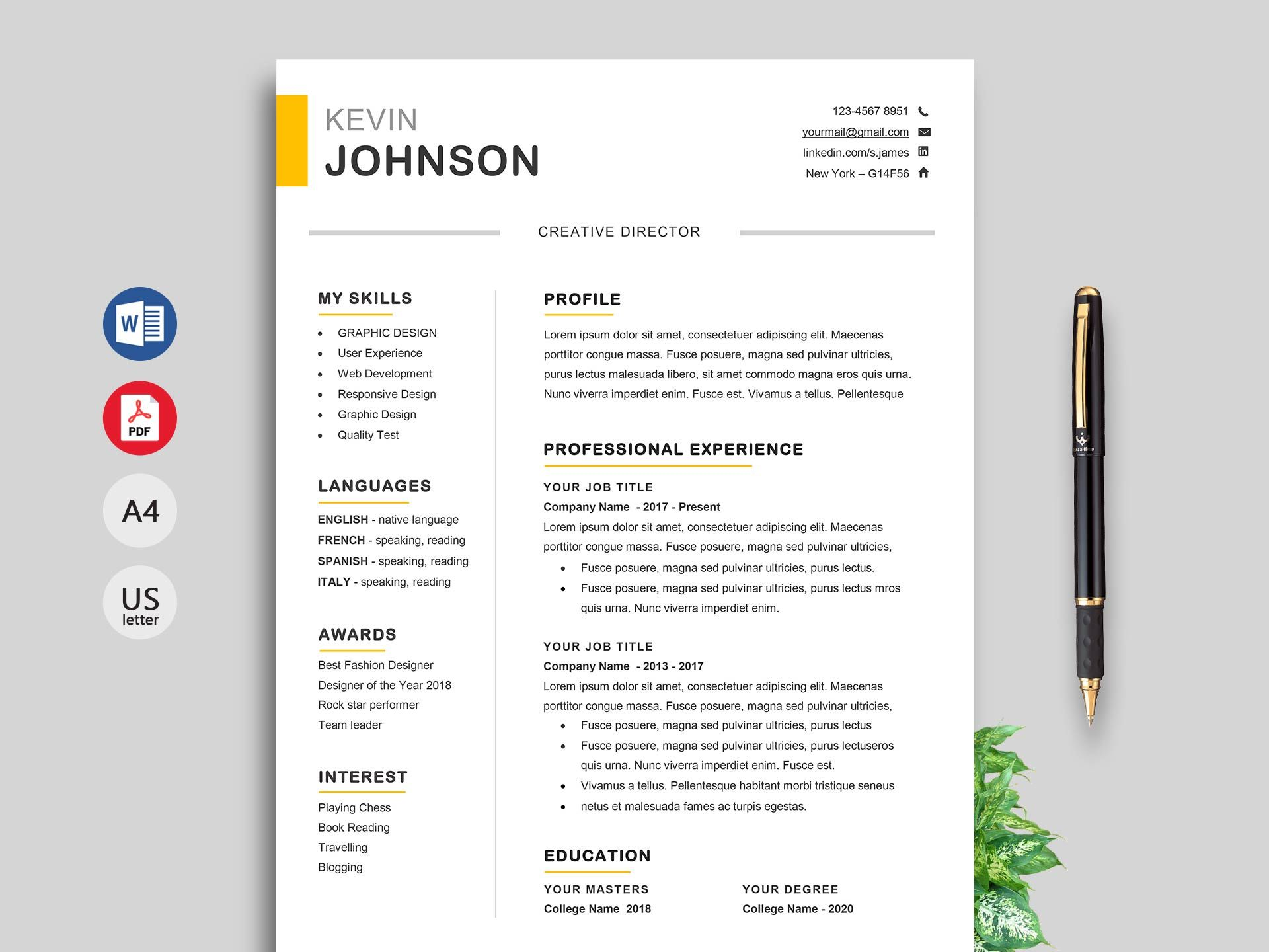 Example Of An Architecture Student Resume My Creations