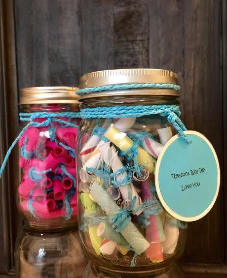 Message Filled Mason Jar By Themasonjarinc On Etsy Birthday Message For Boyfriend Jar Gifts Mason Jar Gifts