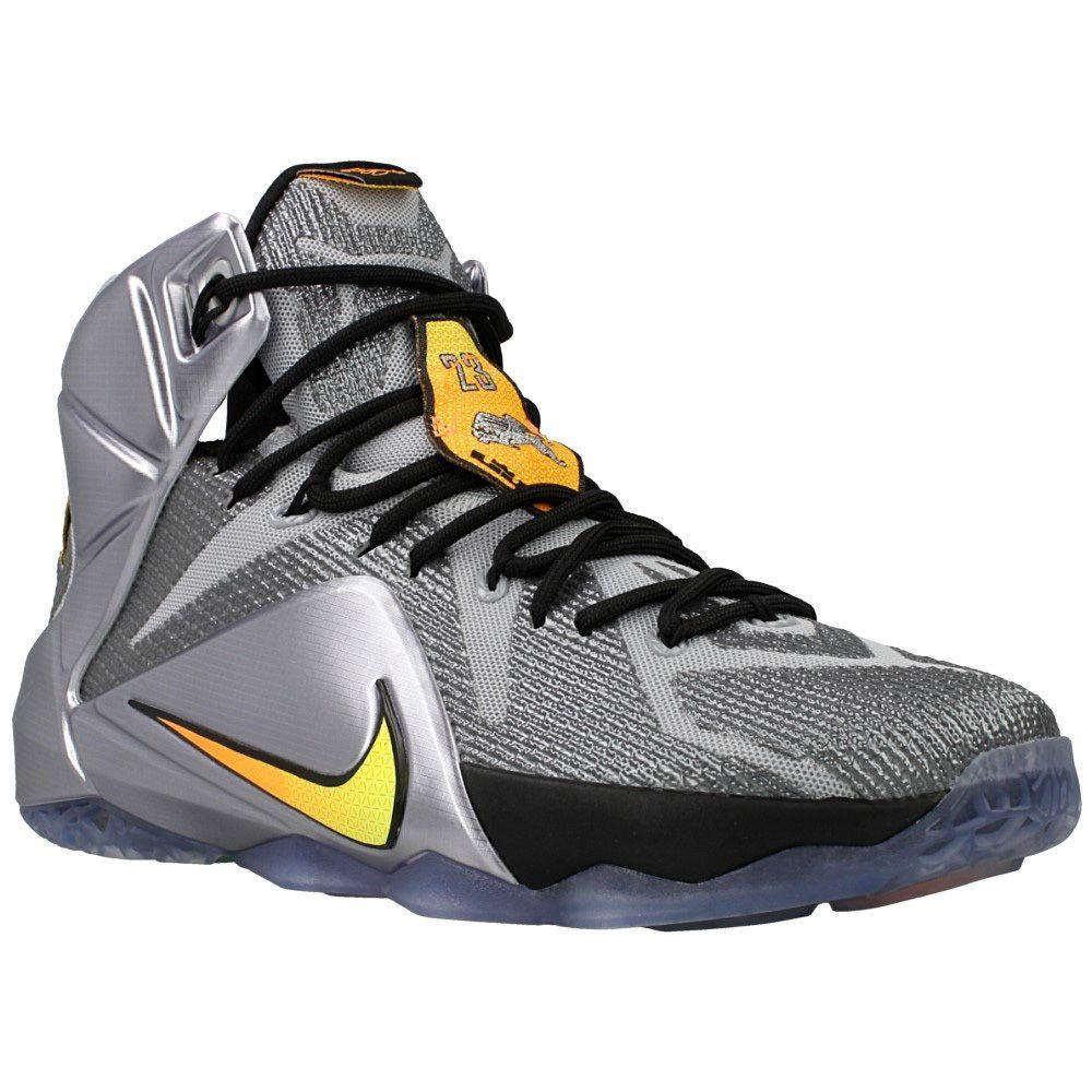 f849541726c9cb Nike Men s Lebron XII Basketball Shoes 684593 080 Grey Black Citrus Size ...