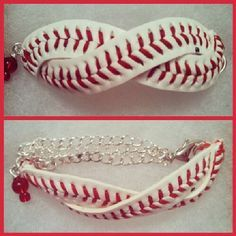 Infinity Baseball Leather Bracelet Using A Real Diy