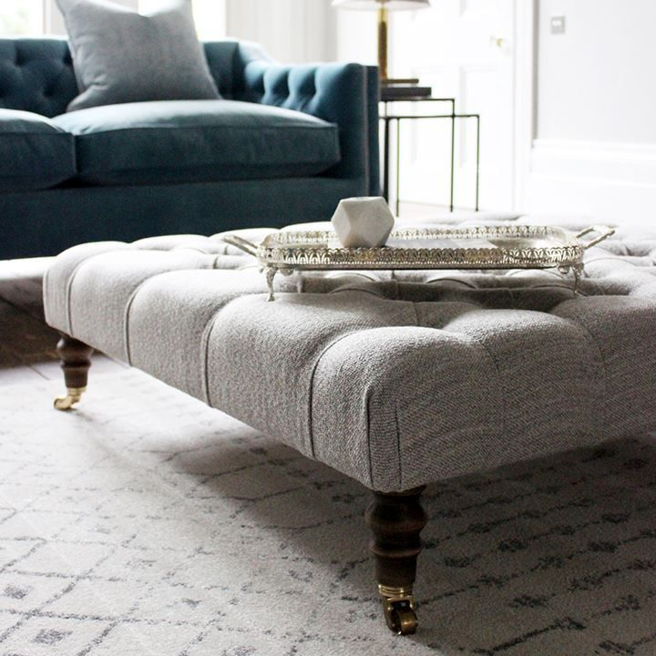 Pentlow Buttoned Square Footstool Corner sofa, footstool
