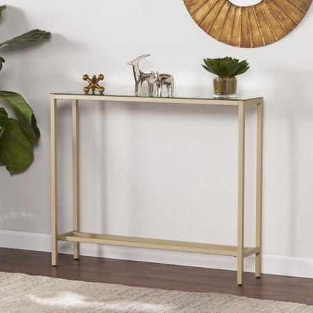 FEATURES: ?› ¢ Space saving skinny console table ?› ¢ Slim ...