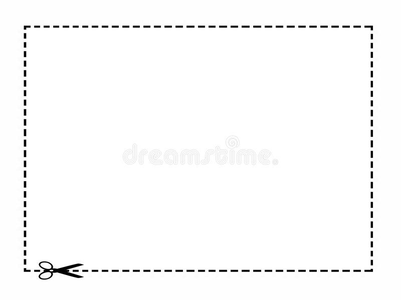 Coupon Border White Rectangle With A Black Dotted Line Border And Scissors With Ad Rectangle Black Dotted Coupon Border Border Dotted Line Dots