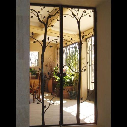 Porte du0027intérieur en fer forgé vitrée - Porte Sur Mesure en fer - decoration portes d interieur