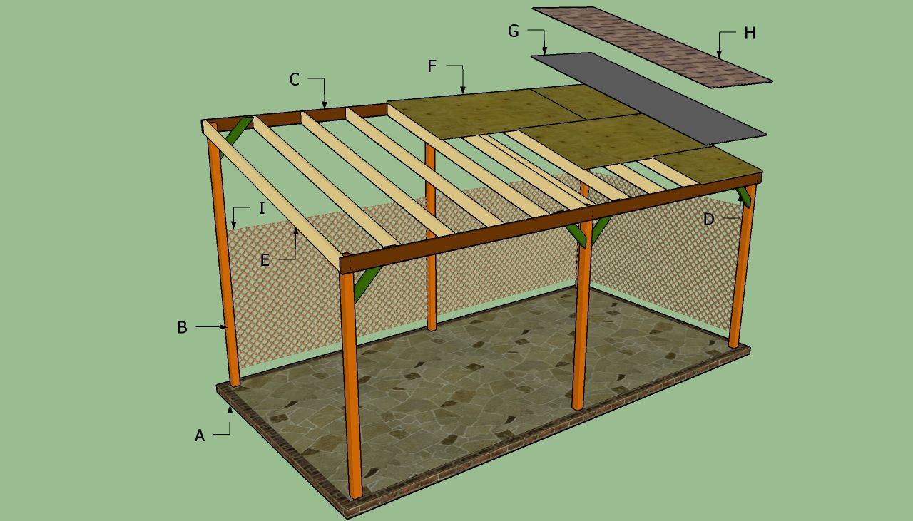 How to build a lean to carport howtospecialist how to for House plans with carport