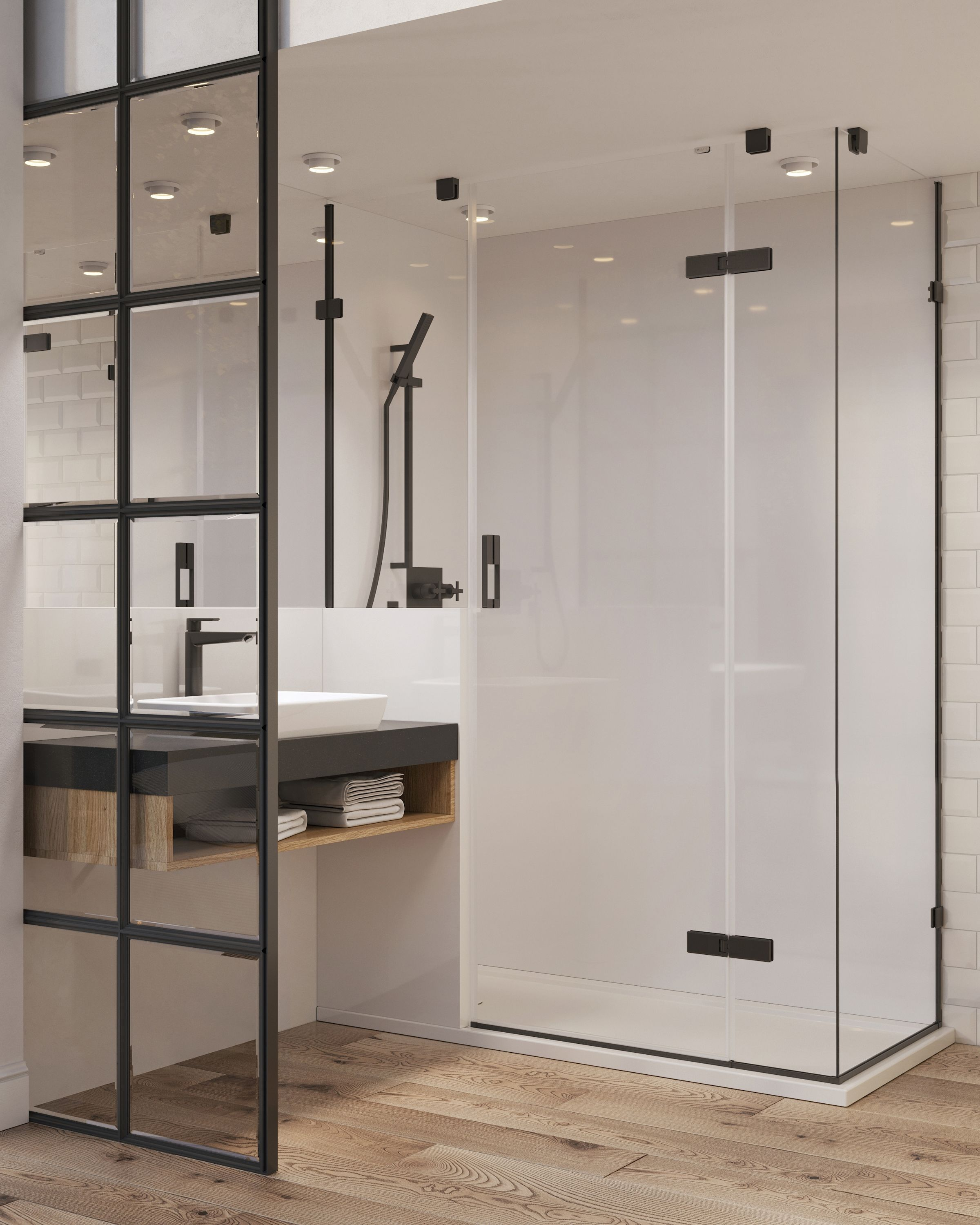 Another New Hotel Concept Signed Off And Agreed The Solid Surface Shower Tray Links To The H Shower Enclosure Minimalist Architecture Interior Design Projects