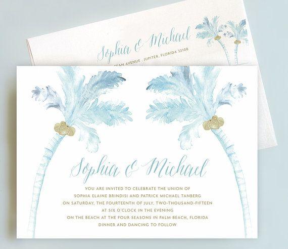 Beach Wedding Invitation Suite, Palm Tree Wedding Invite ...