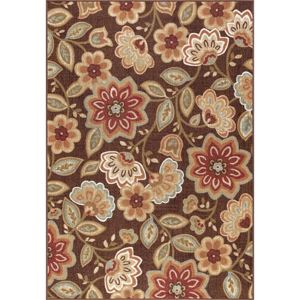 Tayse Rugs Majesty Brown 8 Ft 9 In X 12 Ft 3 In Area Rug