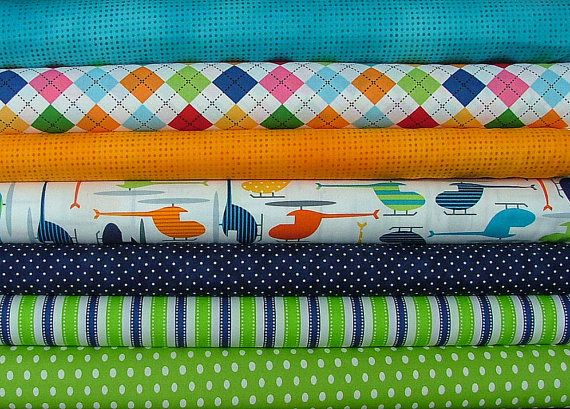 Half Yard Bundle with Helicopters by Anne by SistersandQuilters, $32.33
