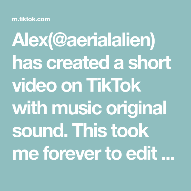 Alex Aerialalien Has Created A Short Video On Tiktok With Music Original Sound This Took Me Forever To Edit Bc I Kept Li Music For Kids Indoor Workout Music