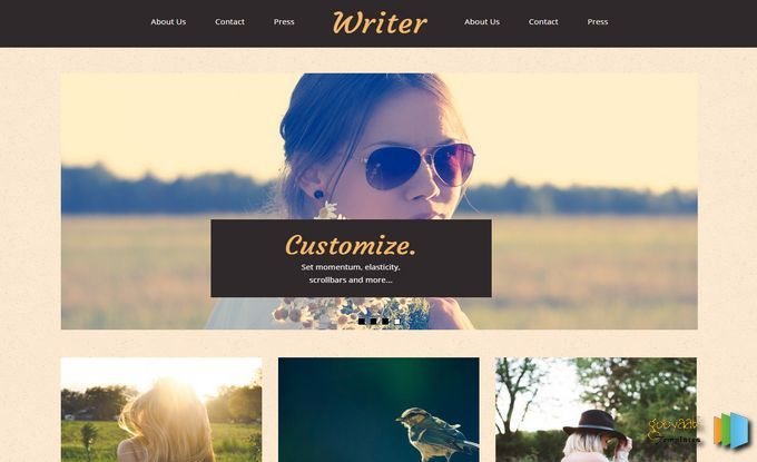 Writer Blogger Template. Blogger templates free download best ...