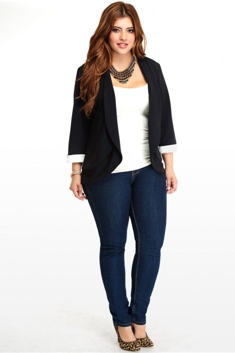 74dcc9bd0b16f Plus Size Cuffed Blazer Get the best deals on plus fashion at Simba Deals!  Check us out  bit.ly 1rjjtdg