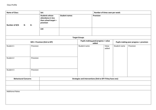 Class profile template.docx | Brown | Pinterest | Template and ...