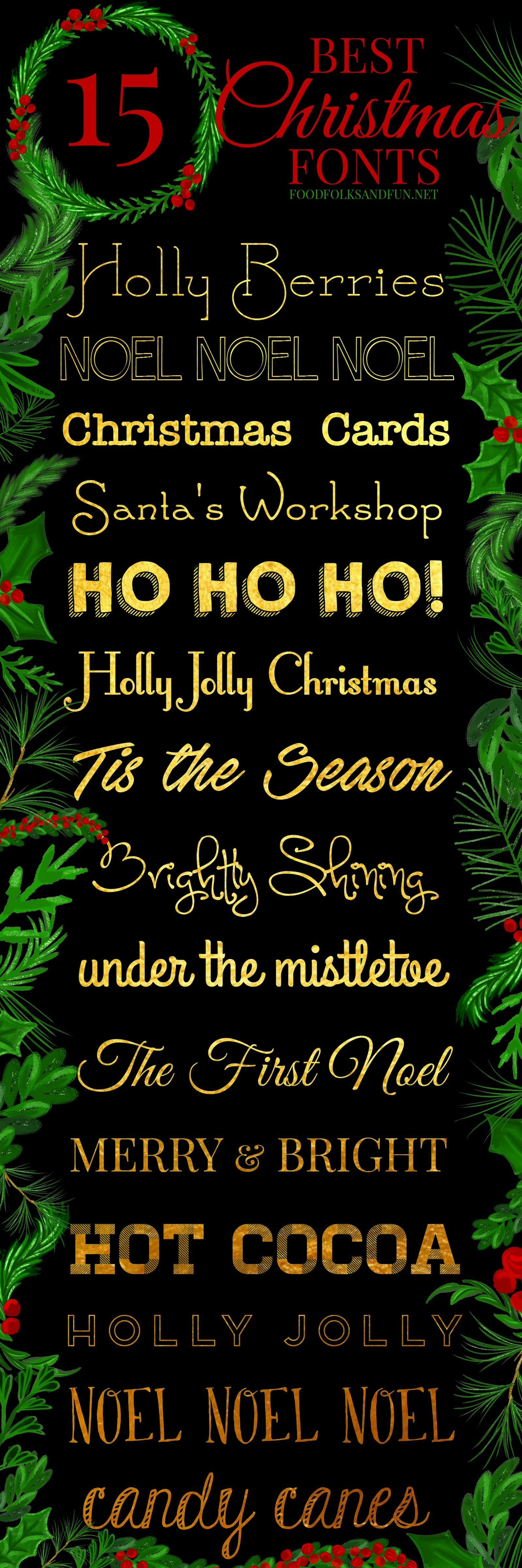 The best & FREE Christmas fonts! These are perfect for all