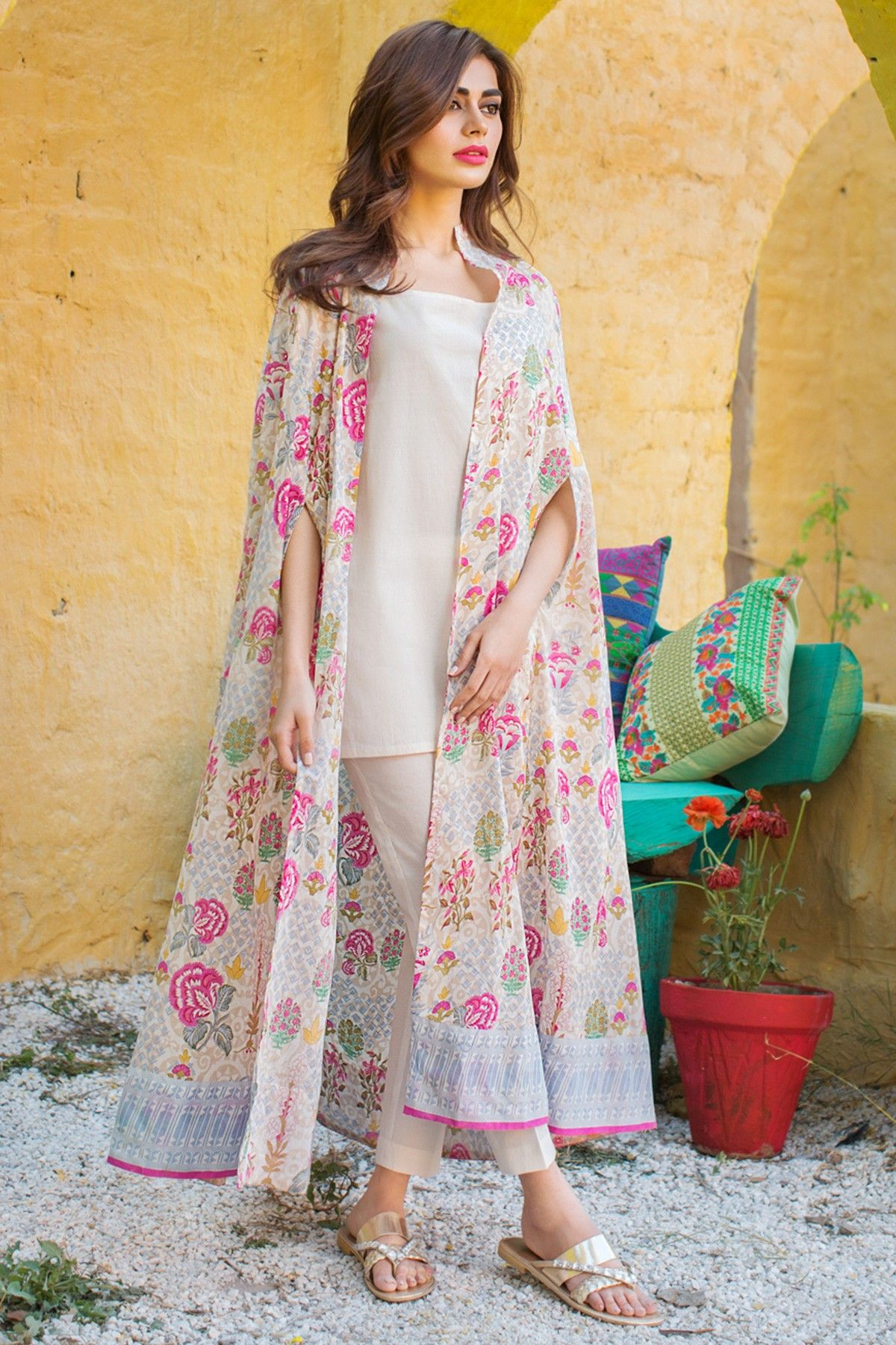 3e58a234167 Khaadi – J17259-A-BEIGE - Lawn 2 Piece Collection - Unstitched ...