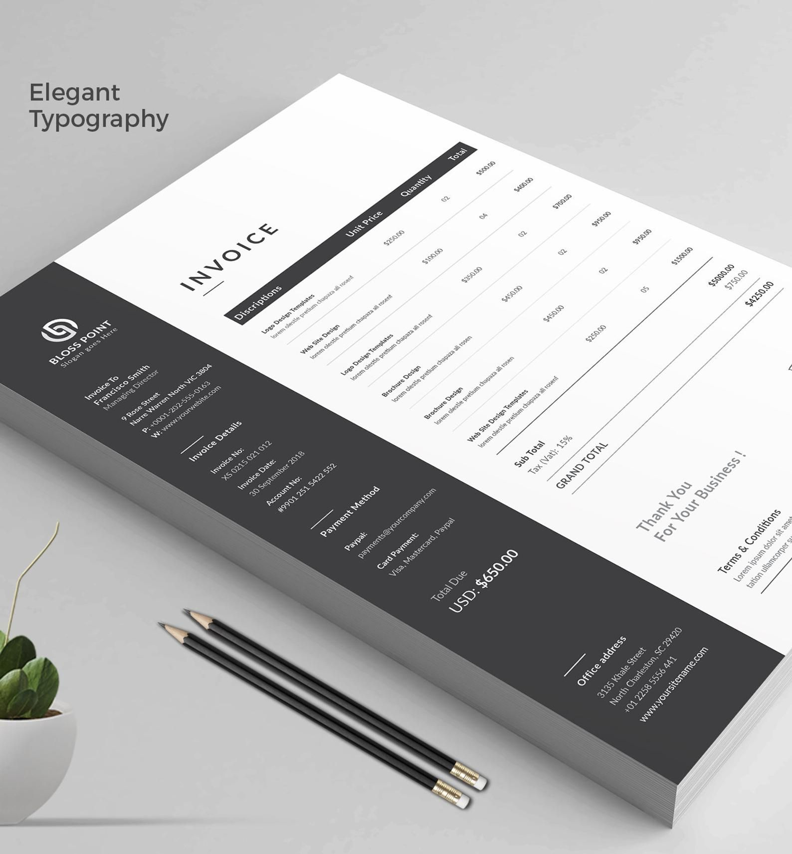 Invoice Template Invoice Design Ms Excel Auto Calculation Features Receipt Word Invoice Photography Invoice Business Invoice In 2020 Invoice Design Photography Invoice Invoice Template