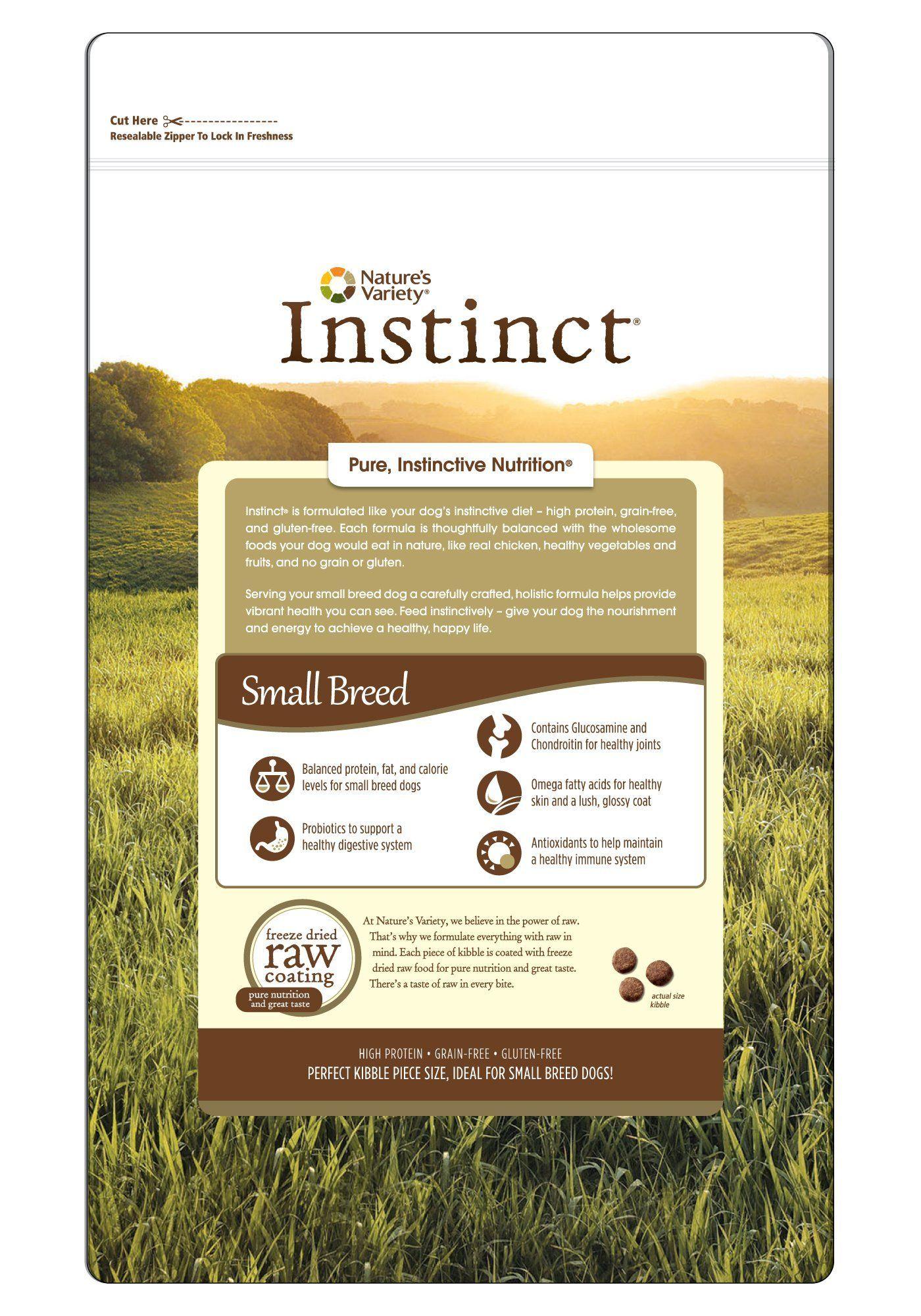 Instinct original small breed grain free chicken meal