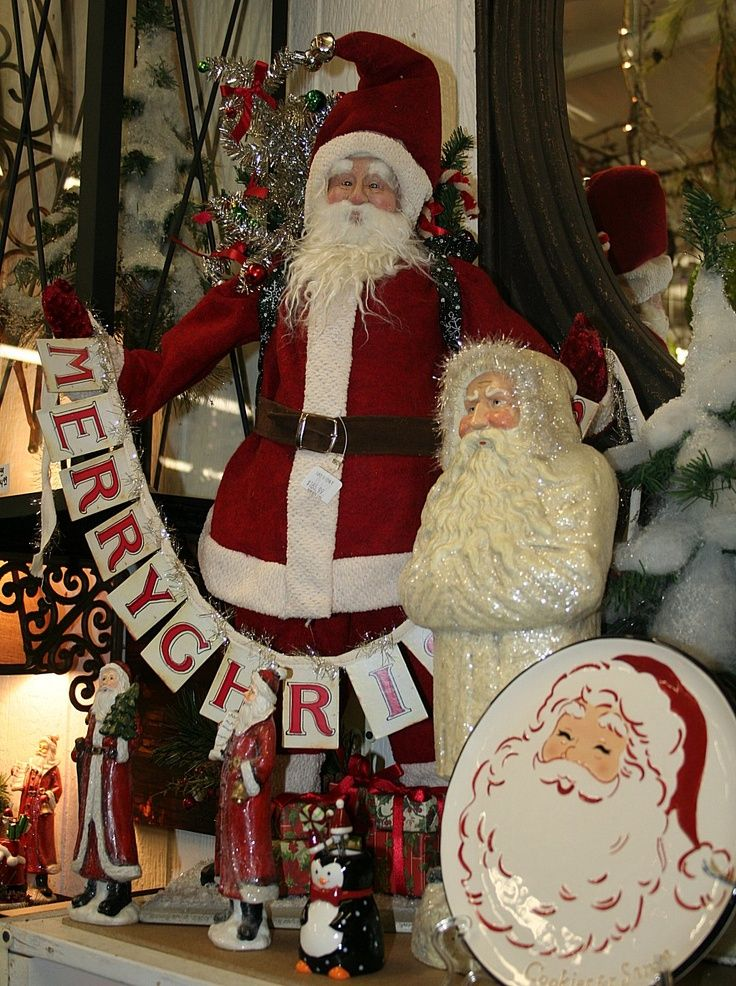 Old Fashioned Christmas Decorating Ideas | ... Grouping Of Old Fashioned  Santas From ... | Christmas Ideas And Dec