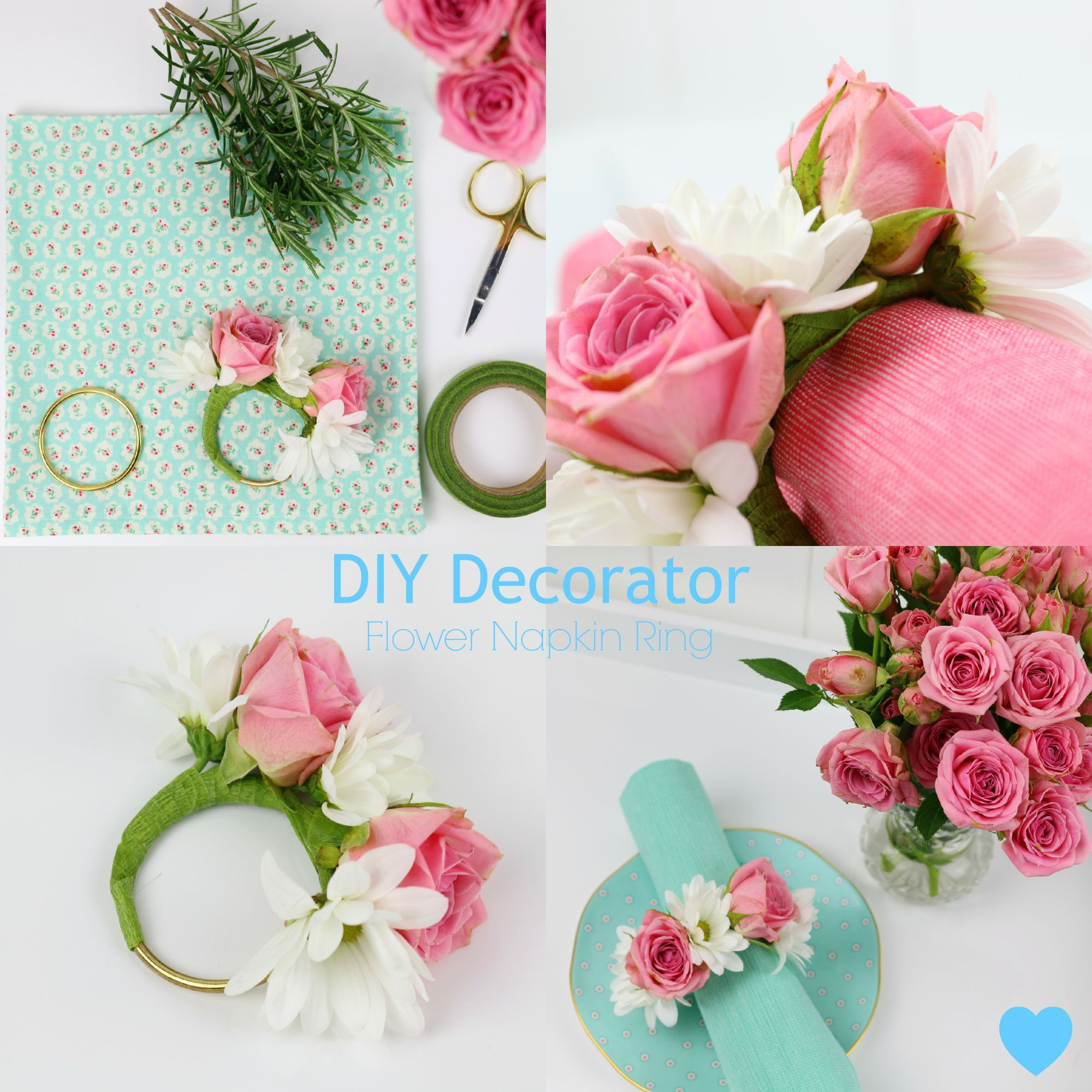 Diy Flower Napkin Rings Pinterest Napkins Napkin Rings And