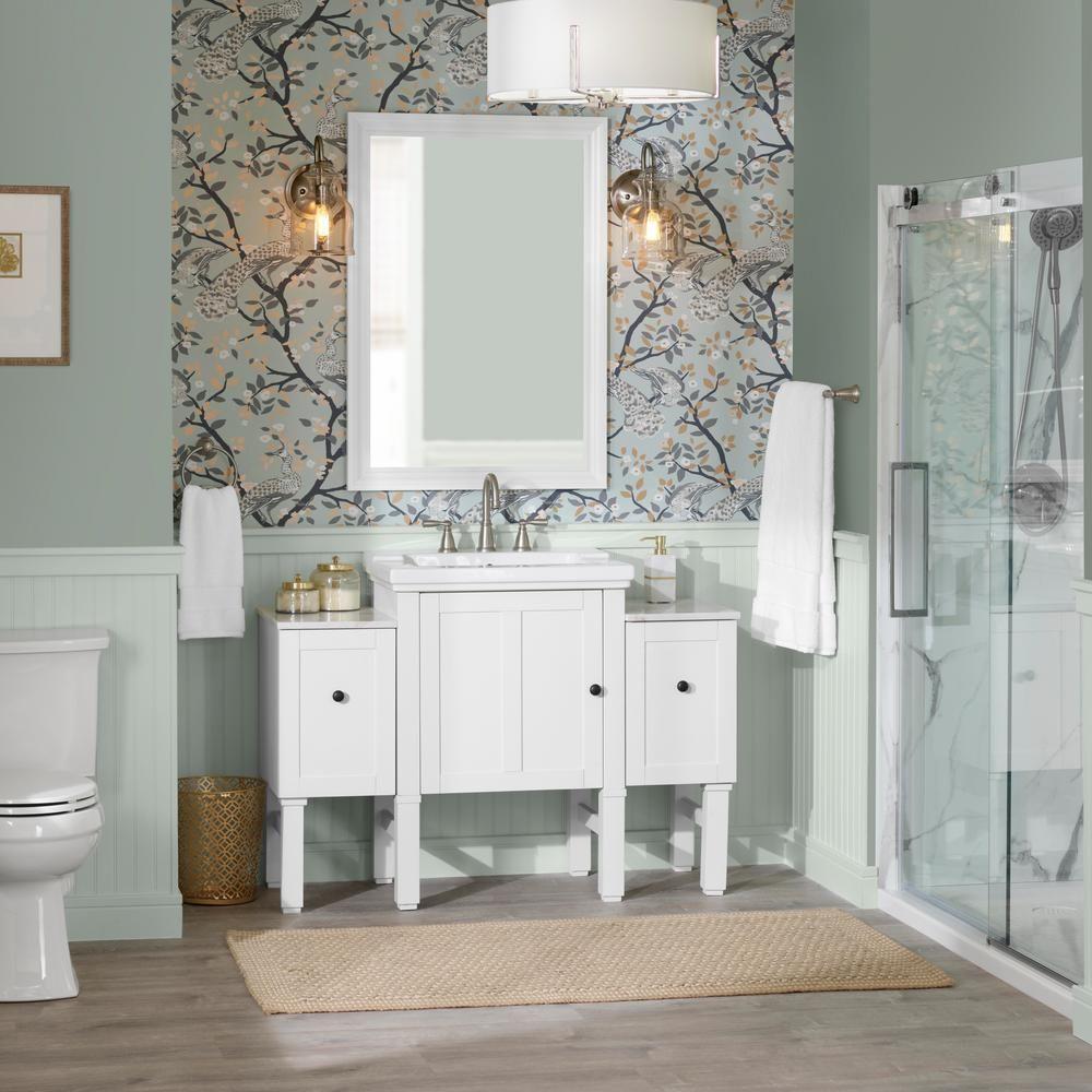 Kohler Chambly 24 In W Vanity In Linen White With Ceramic Vanity Top In White With White Basin K R20195 1wa The Home Depot Vanity Top Amazing Bathrooms Vanity [ 1000 x 1000 Pixel ]