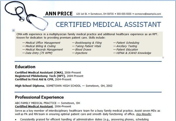 Art Medical Assistant Resume Template resume-templates Medical