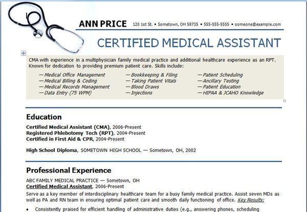 art medical assistant resume template resume