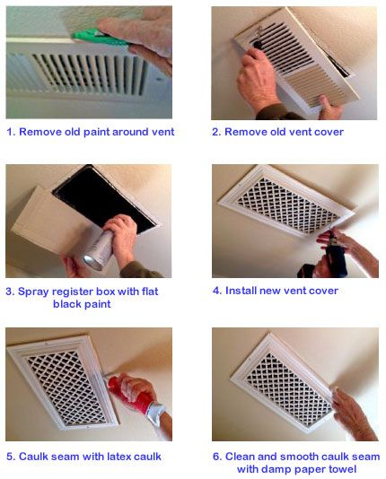 Professional Installation Of Wall And Ceiling Heat Registers And Air Intake Covers Modern Ceiling Home Maintenance Heat Registers