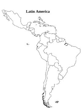 south america map activity This Is A Latin America Map Activity Students Are Given
