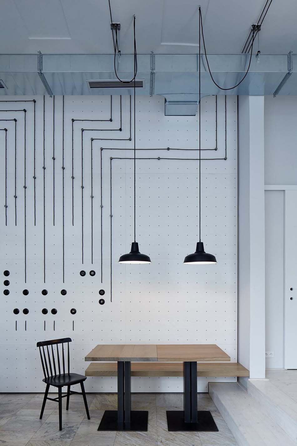 Attrayant Bistro Cafe With A Minimalist, Artistic Design Concept